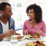 couple eating well to boost male fertility